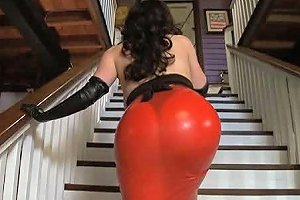 Chick With Big Natural Breasts And Plus First Class Ass In Action