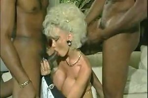 Dolly Buster Milf Fucked By 2 Black Guys