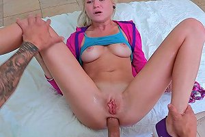 Skinny Teen Gets Her Ass Fucked By The Fat Cock